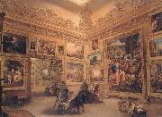 Frederick Mackenzie The National Gallery when at Mr J.J Angerstein's House,Pall Mall oil